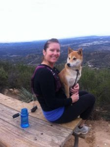 Dr. Beck Hiking with Dog