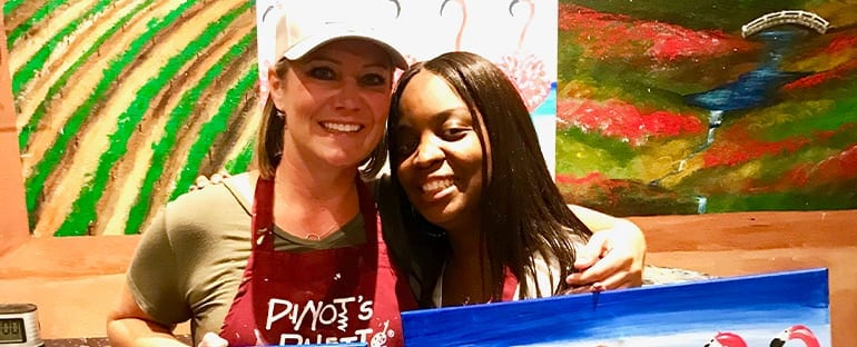 Dr. Beck at a Paint and Wine Event Copy 1